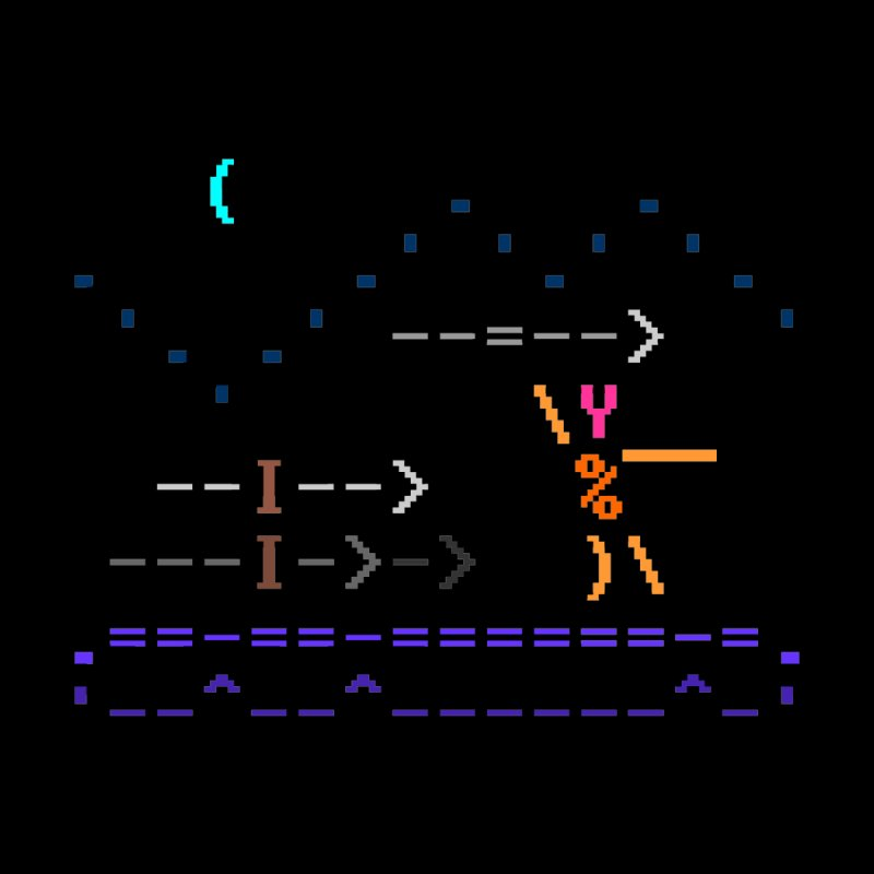 Spear-man by ASCIIDENT