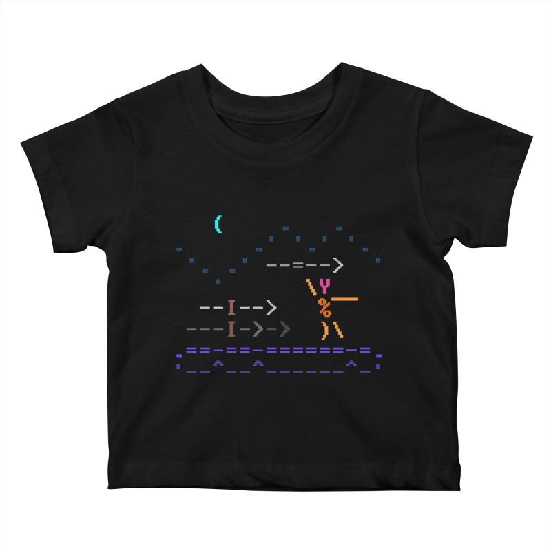 Spear-man Kids Baby T-Shirt by ASCIIDENT