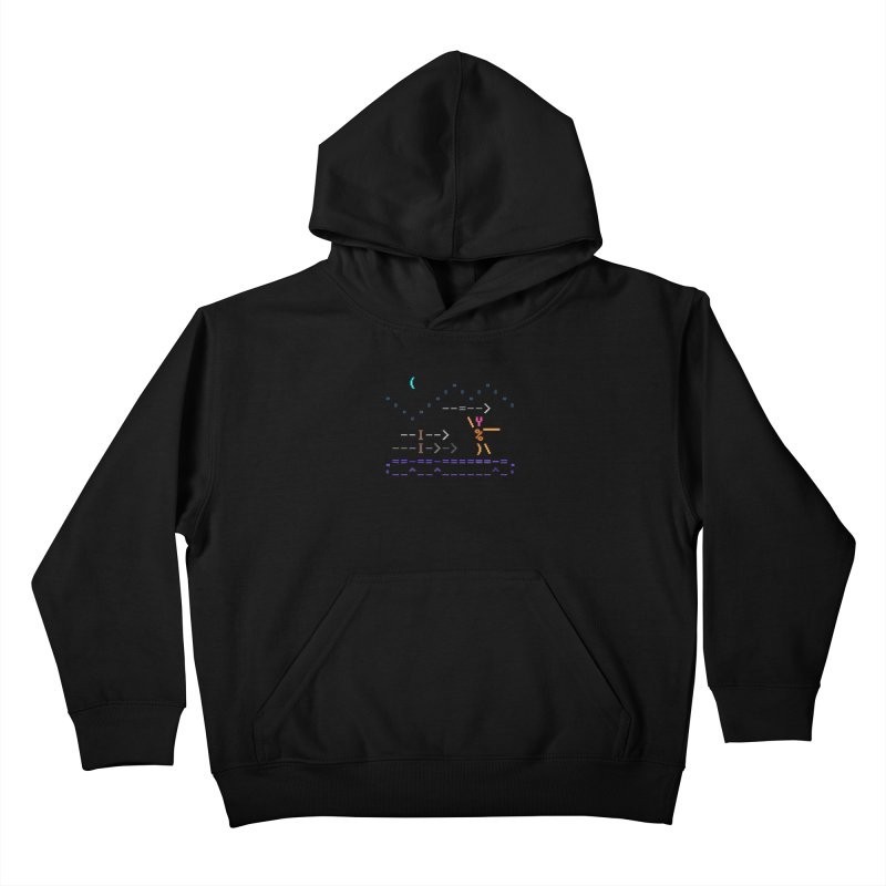 Spear-man Kids Pullover Hoody by ASCIIDENT