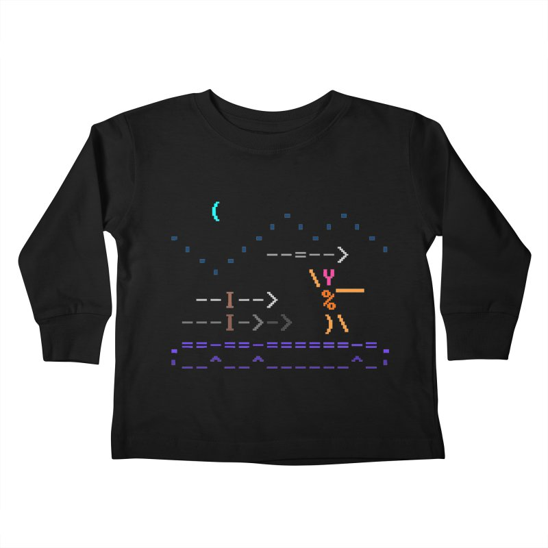 Spear-man Kids Toddler Longsleeve T-Shirt by ASCIIDENT