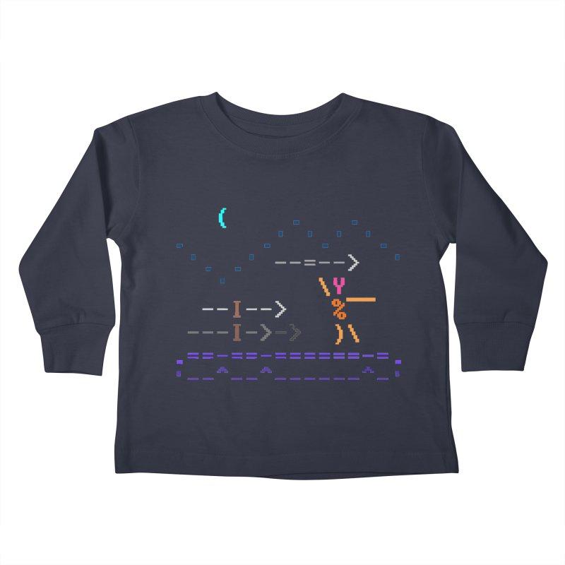 Spear-man Kids Toddler Longsleeve T-Shirt by ASCIIDENT