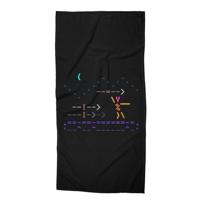 Spear-man Accessories Beach Towel by ASCIIDENT