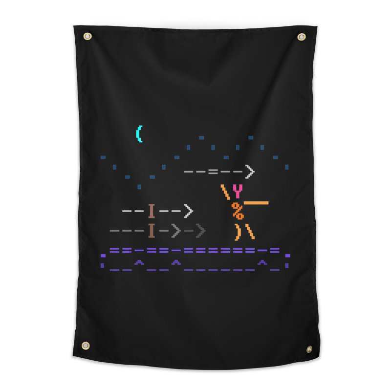 Spear-man Home Tapestry by ASCIIDENT