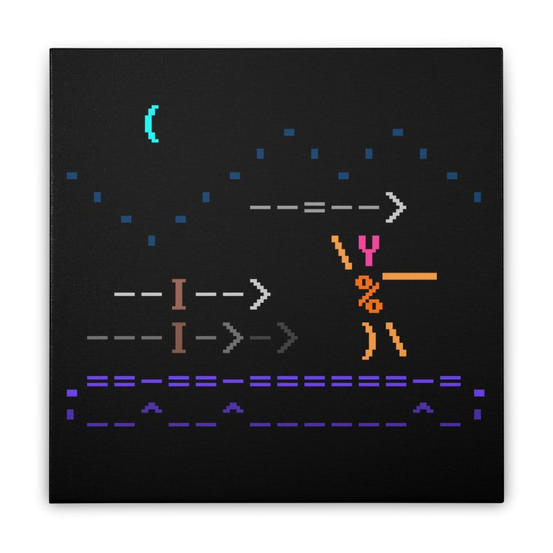 Spear-man Home Stretched Canvas by ASCIIDENT