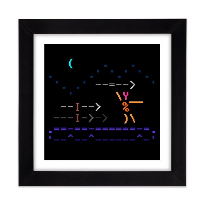 Spear-man Home Framed Fine Art Print by ASCIIDENT