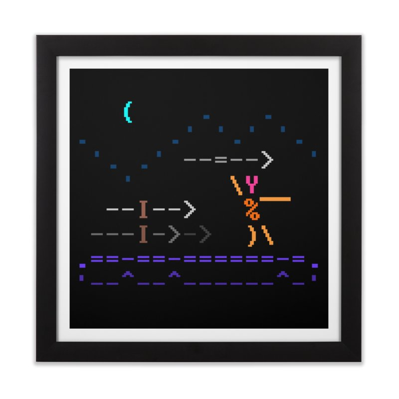 Spear-man Home Framed Fine Art Print by ASCIIDENT