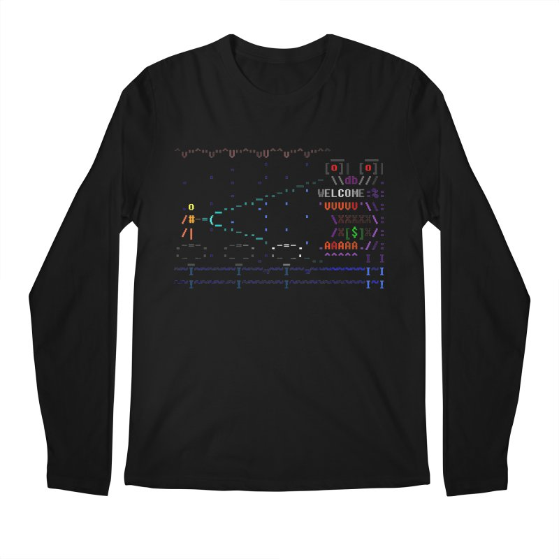 Flashlight Men's Regular Longsleeve T-Shirt by ASCIIDENT