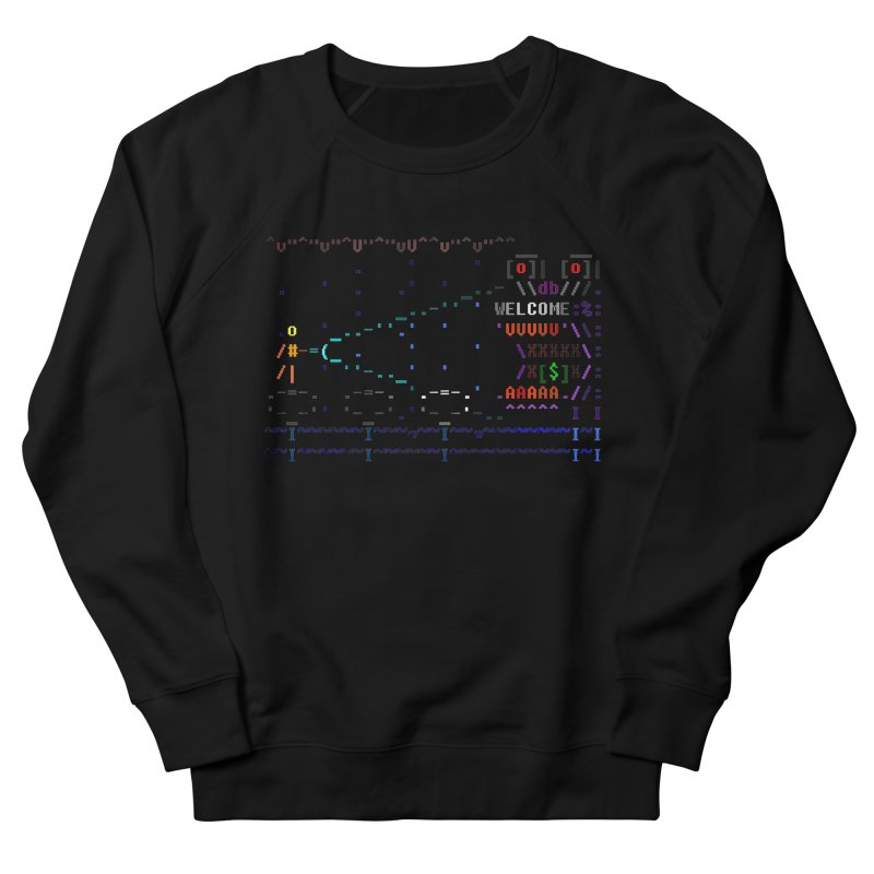 Flashlight Men's French Terry Sweatshirt by ASCIIDENT