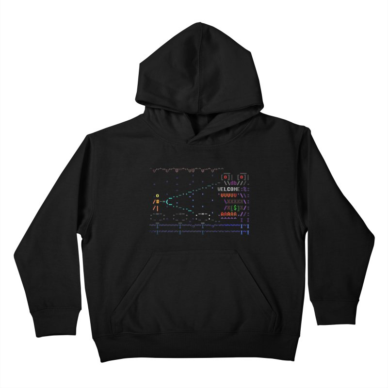 Flashlight Kids Pullover Hoody by ASCIIDENT