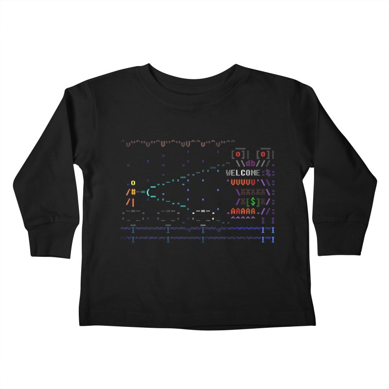 Flashlight Kids Toddler Longsleeve T-Shirt by ASCIIDENT