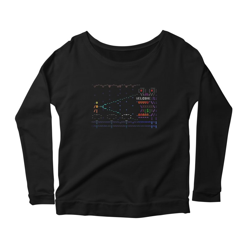 Flashlight Women's Scoop Neck Longsleeve T-Shirt by ASCIIDENT