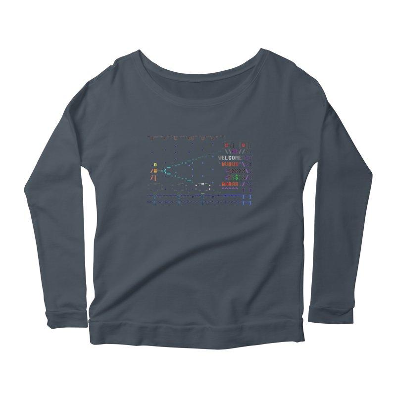 Flashlight Women's Scoop Neck Longsleeve T-Shirt by ASCIIDENT