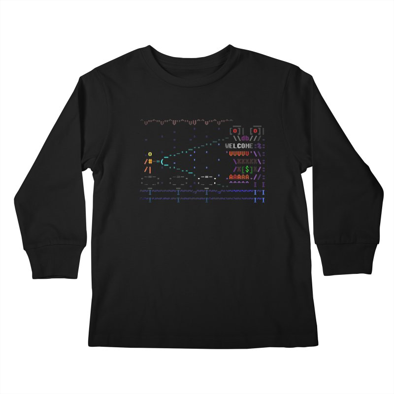 Flashlight Kids Longsleeve T-Shirt by ASCIIDENT