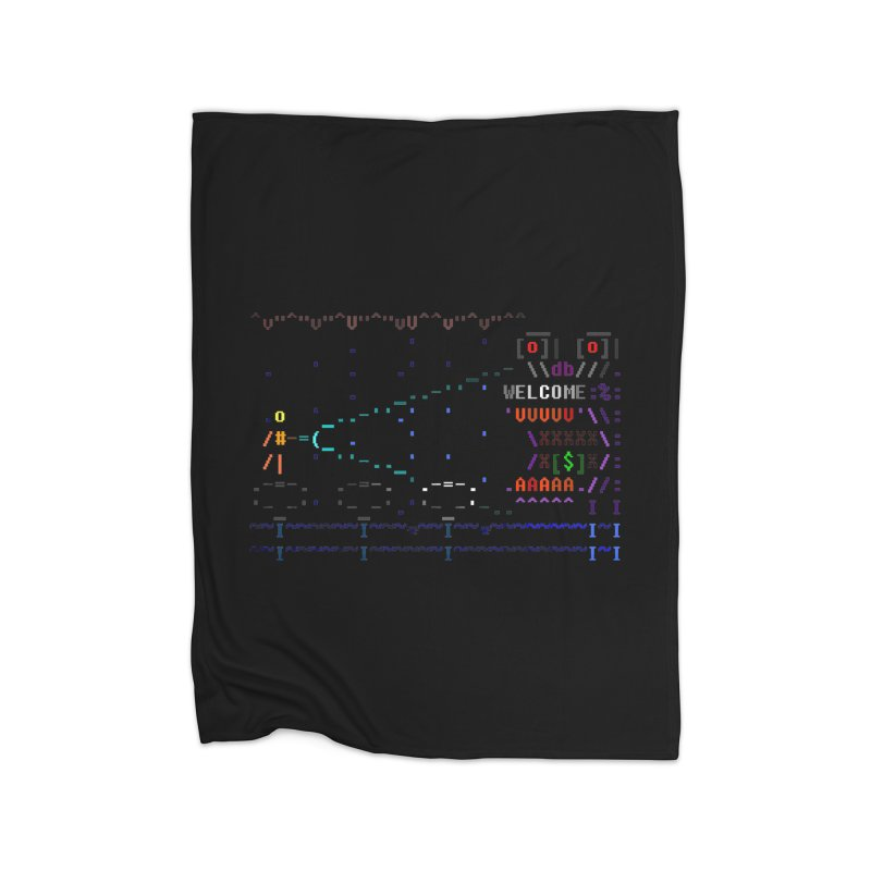 Flashlight Home Fleece Blanket Blanket by ASCIIDENT