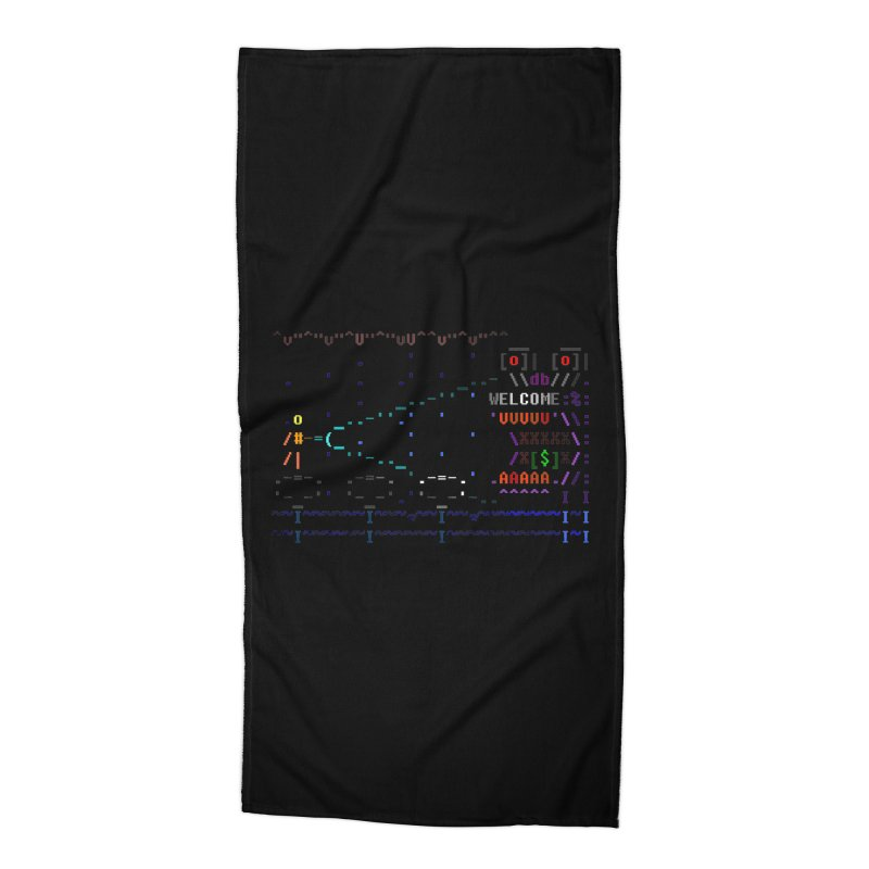 Flashlight Accessories Beach Towel by ASCIIDENT