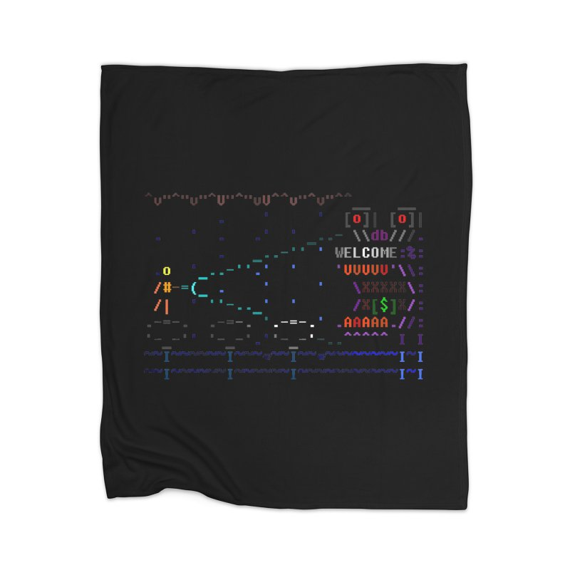 Flashlight Home Blanket by ASCIIDENT
