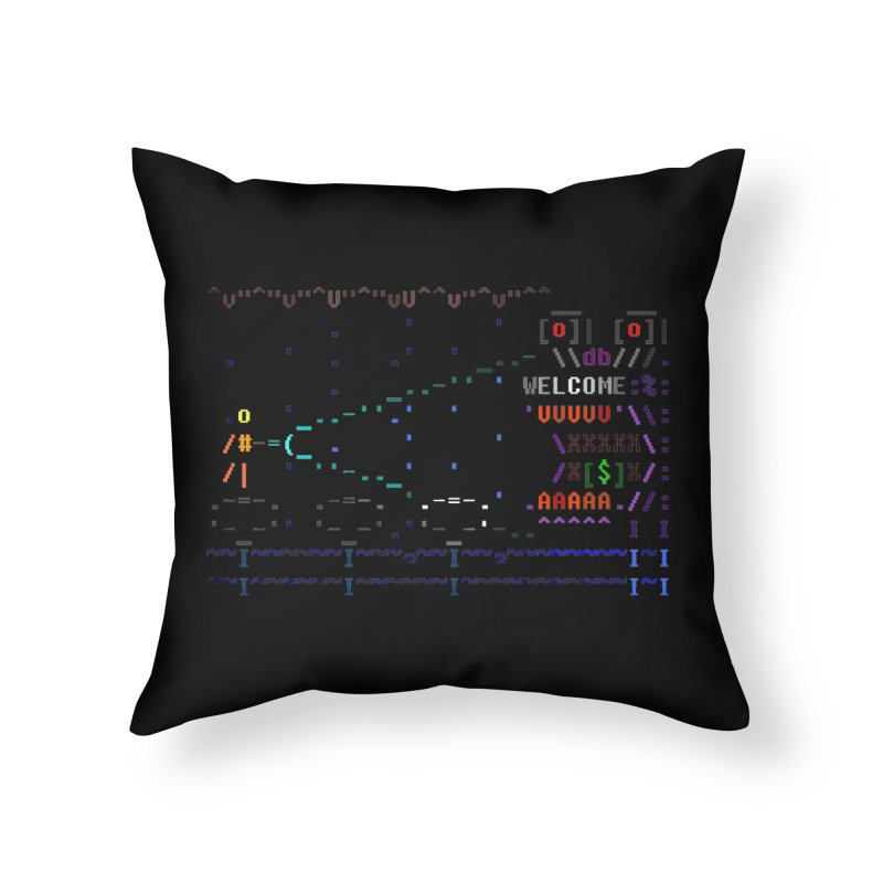 Flashlight Home Throw Pillow by ASCIIDENT