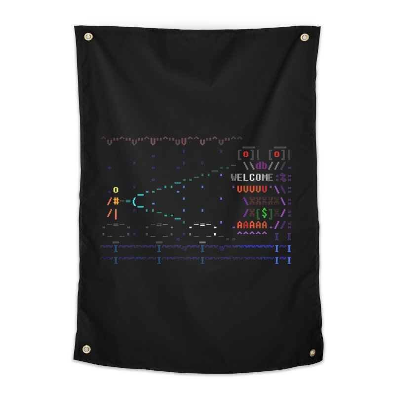 Flashlight Home Tapestry by ASCIIDENT