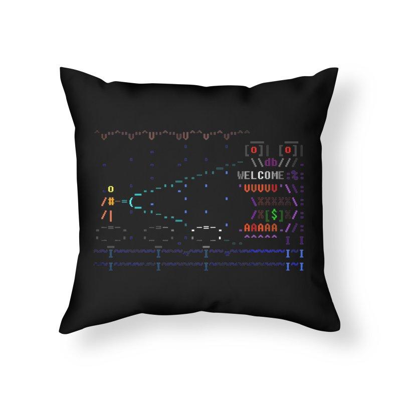 Flashlight Home Throw Pillow by ASCIIDENT