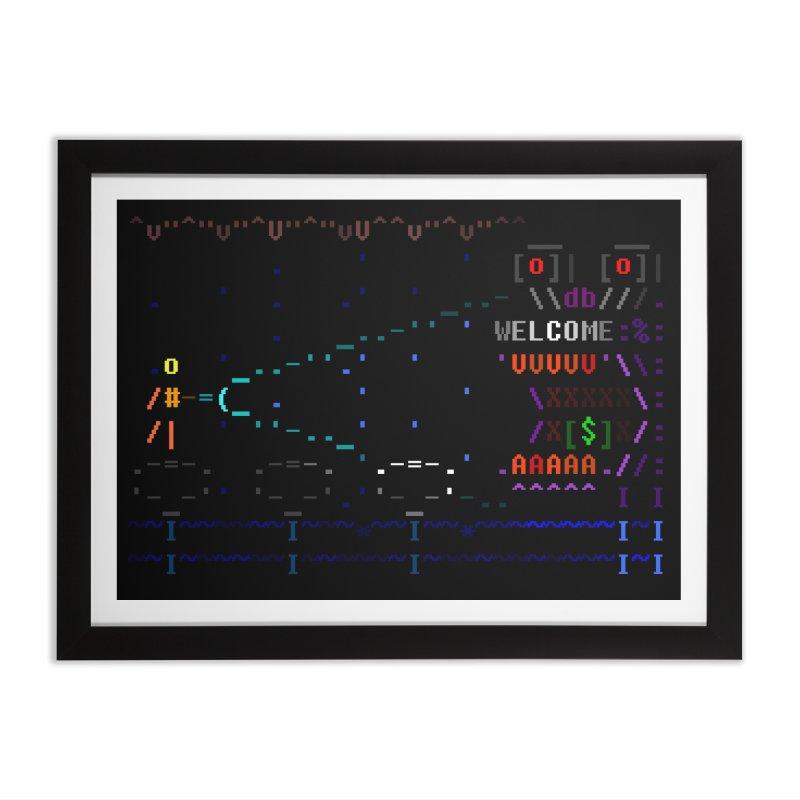 Flashlight Home Framed Fine Art Print by ASCIIDENT