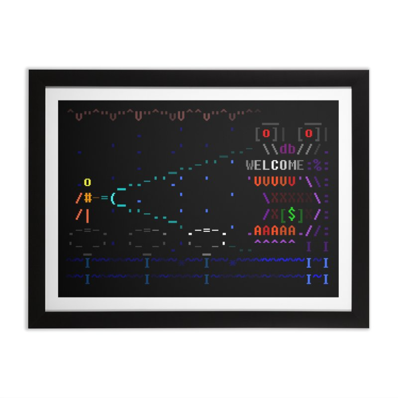 Flashlight Home Framed Fine Art Print by ASCIIDENT