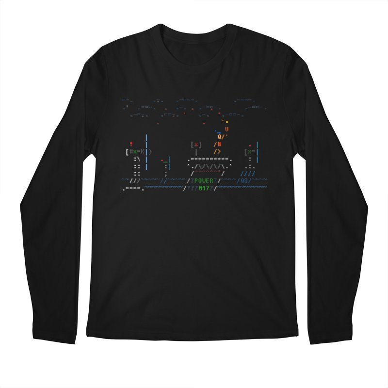 Power Plant Men's Longsleeve T-Shirt by ASCIIDENT