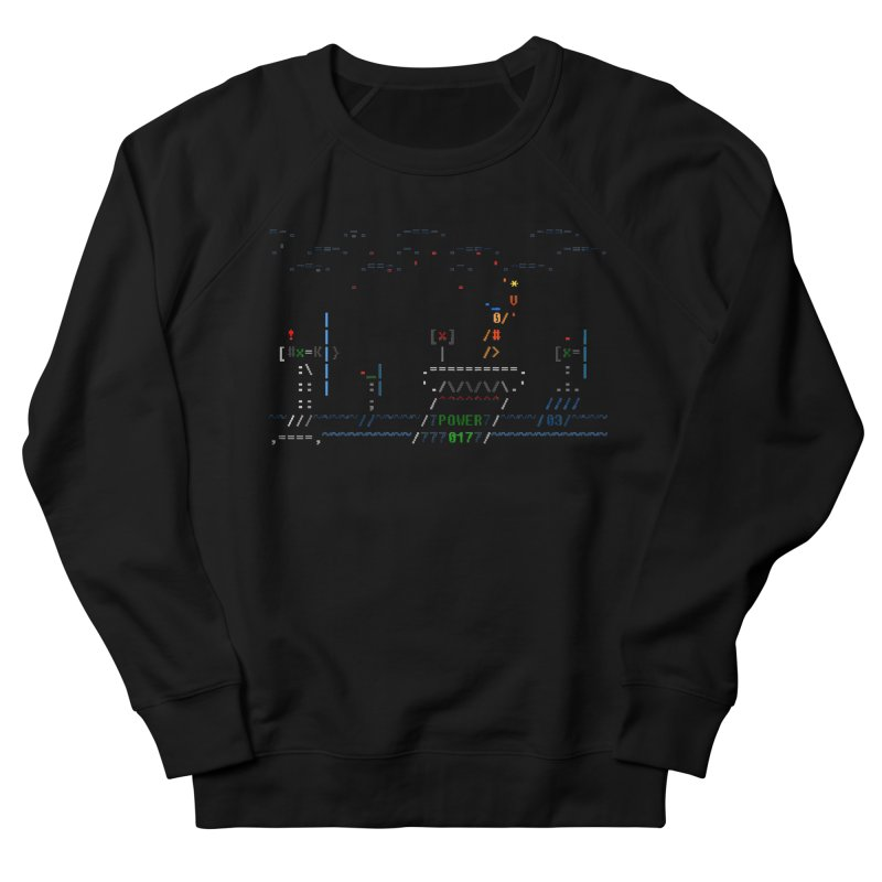 Power Plant Men's French Terry Sweatshirt by ASCIIDENT