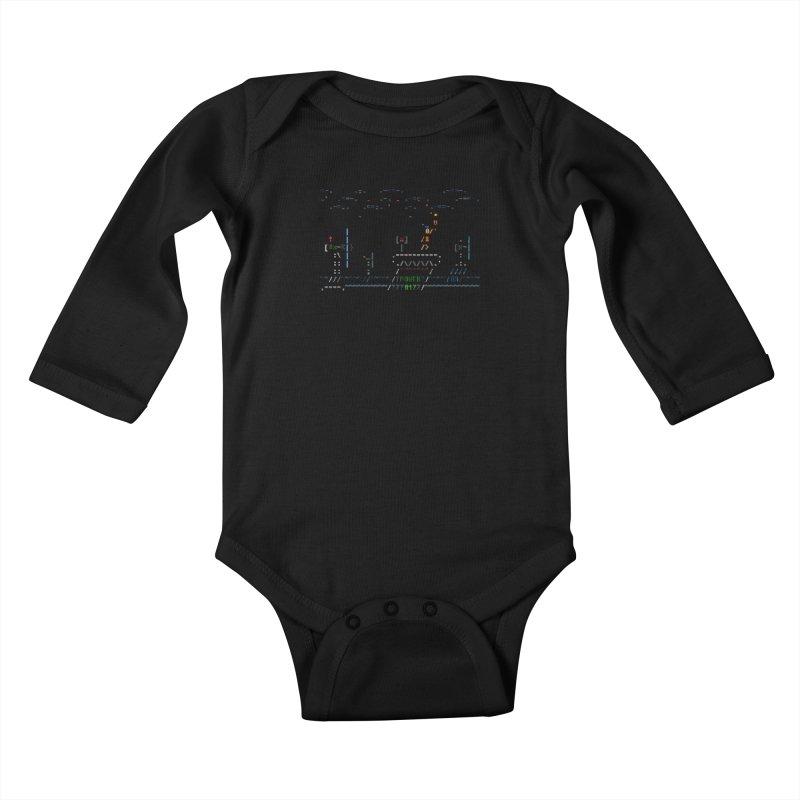 Power Plant Kids Baby Longsleeve Bodysuit by ASCIIDENT
