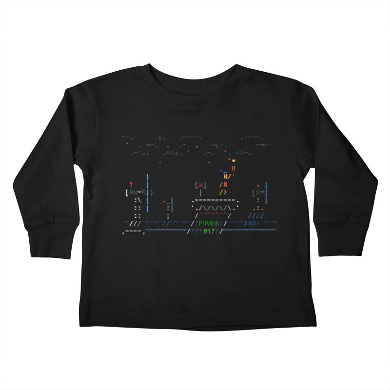 Power Plant Kids Toddler Longsleeve T-Shirt by ASCIIDENT