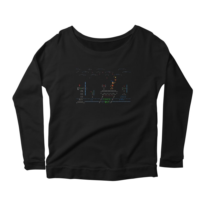 Power Plant Women's Scoop Neck Longsleeve T-Shirt by ASCIIDENT
