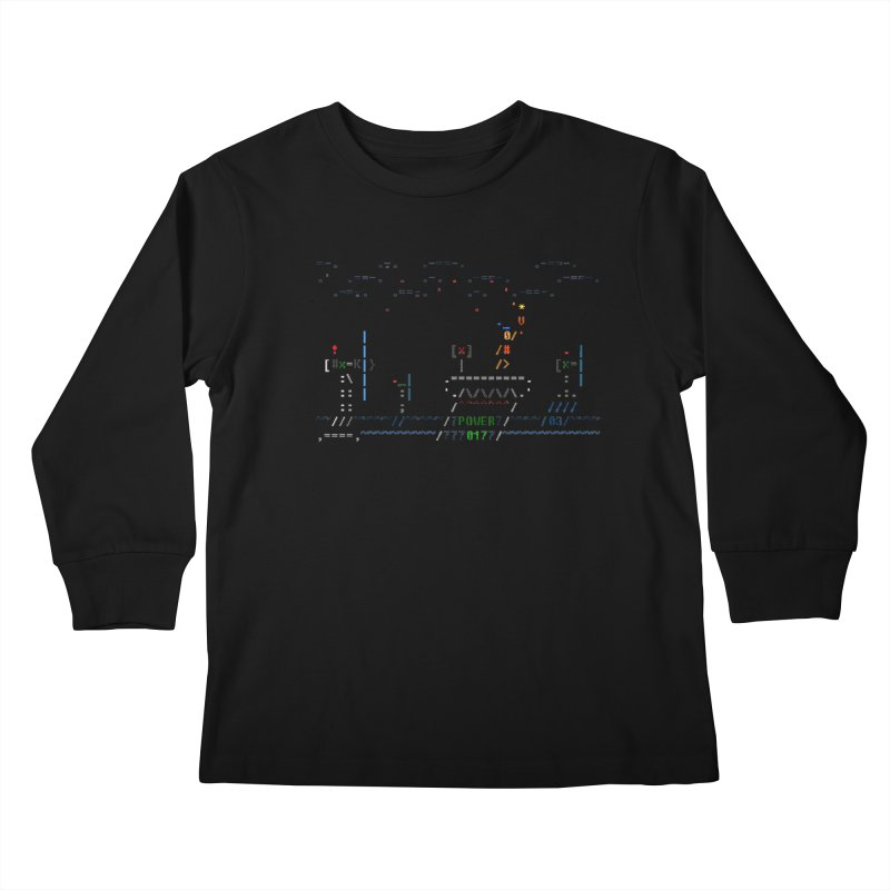 Power Plant Kids Longsleeve T-Shirt by ASCIIDENT