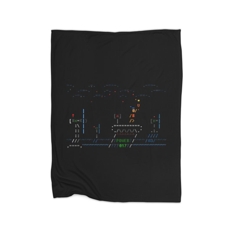 Power Plant Home Fleece Blanket Blanket by ASCIIDENT