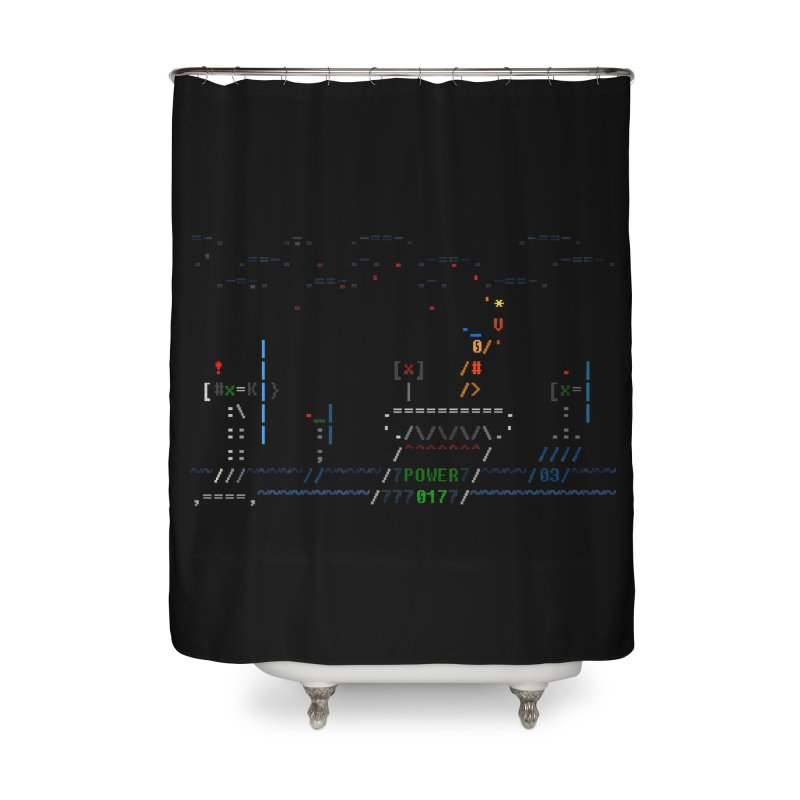 Power Plant Home Shower Curtain by ASCIIDENT