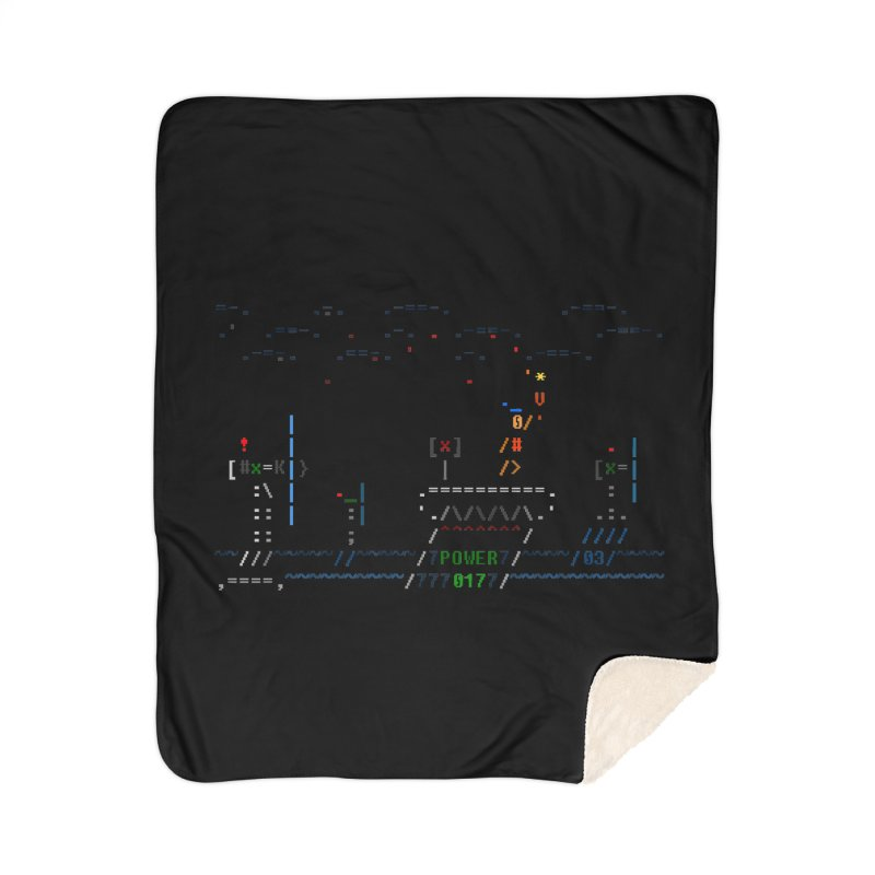 Power Plant Home Sherpa Blanket Blanket by ASCIIDENT