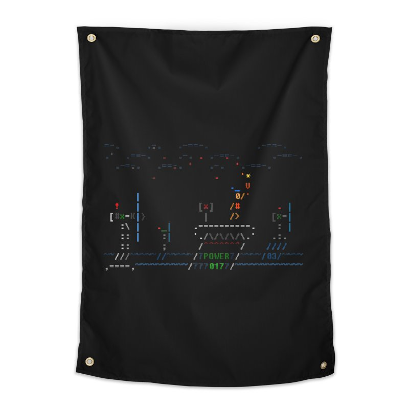 Power Plant Home Tapestry by ASCIIDENT