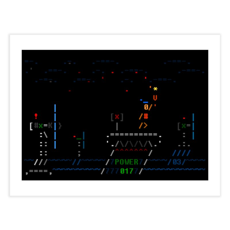 Power Plant Home Fine Art Print by ASCIIDENT