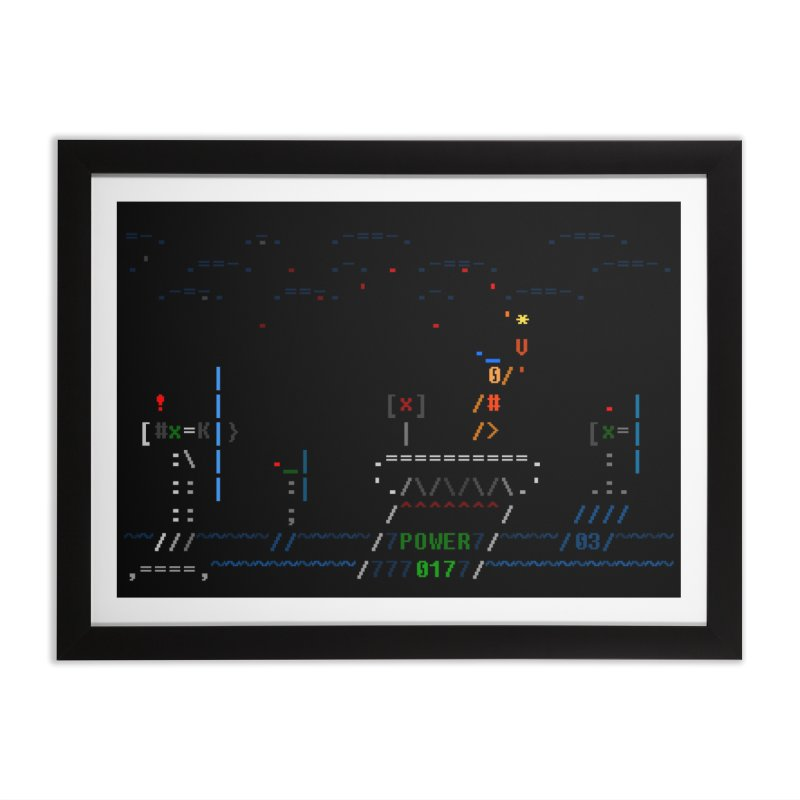 Power Plant Home Framed Fine Art Print by ASCIIDENT