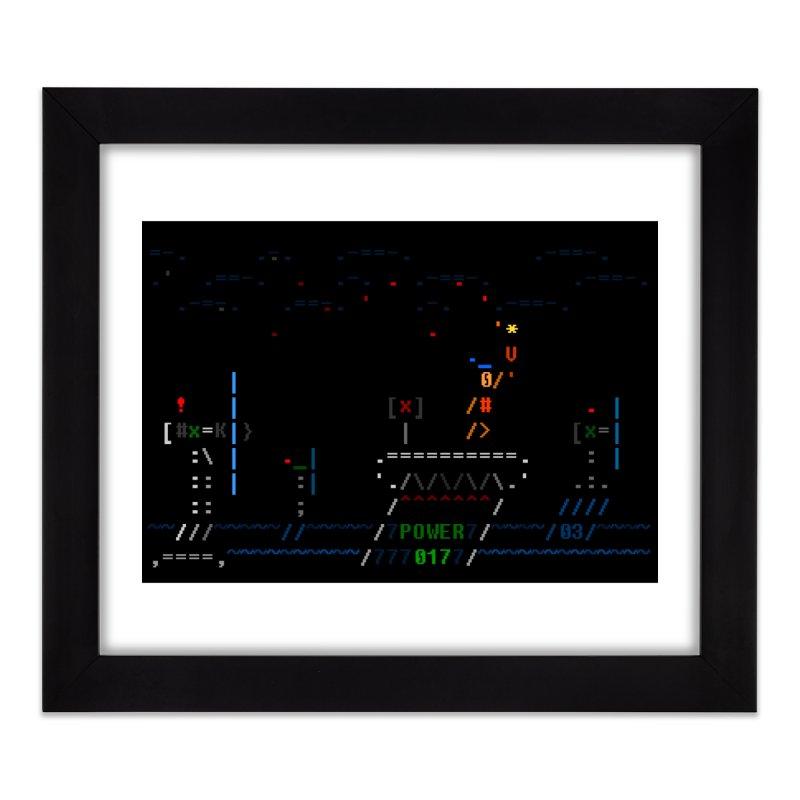 Power Plant Home Framed Fine Art Print by ASCIIDENT