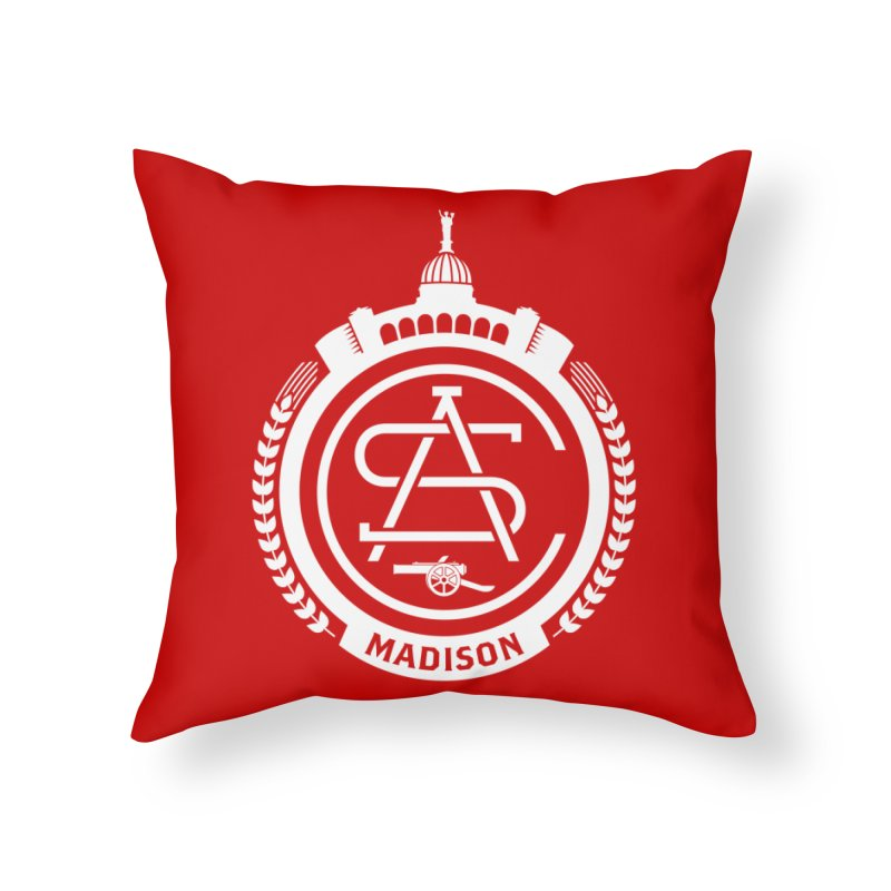 ASC Madison Terrace - Home Strip Home Throw Pillow by ASC Madison