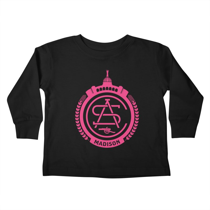 ASC Madison Terrace - 17-18 Third Strip Kids Toddler Longsleeve T-Shirt by ASC Madison