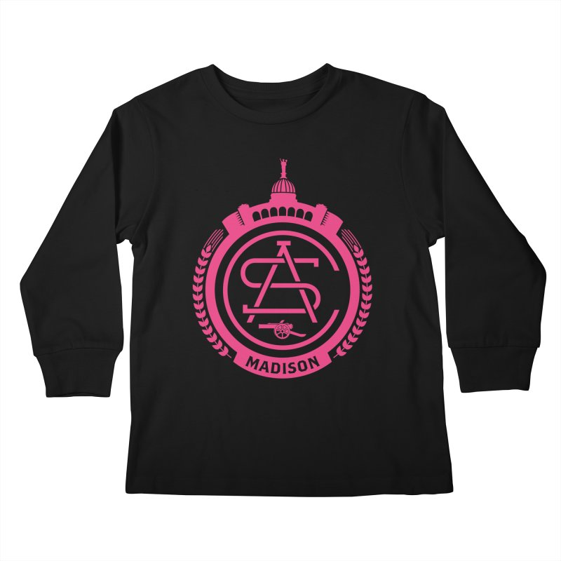 ASC Madison Terrace - 17-18 Third Strip Kids Longsleeve T-Shirt by ASC Madison