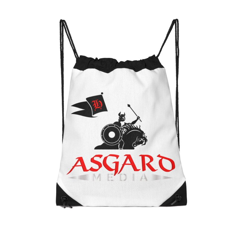 Asgard Media Accessories Drawstring Bag Bag by Asgard Radio's Artist Shop