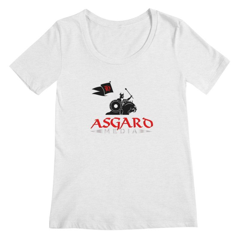 Asgard Media Women's Regular Scoop Neck by Asgard Radio's Artist Shop
