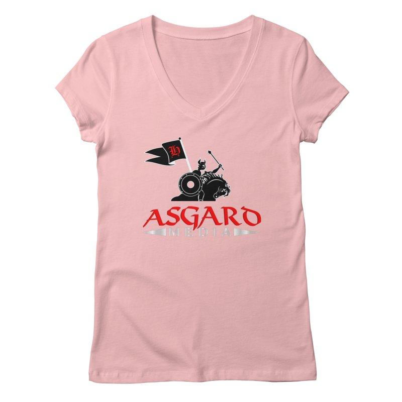 Asgard Media Women's Regular V-Neck by Asgard Radio's Artist Shop