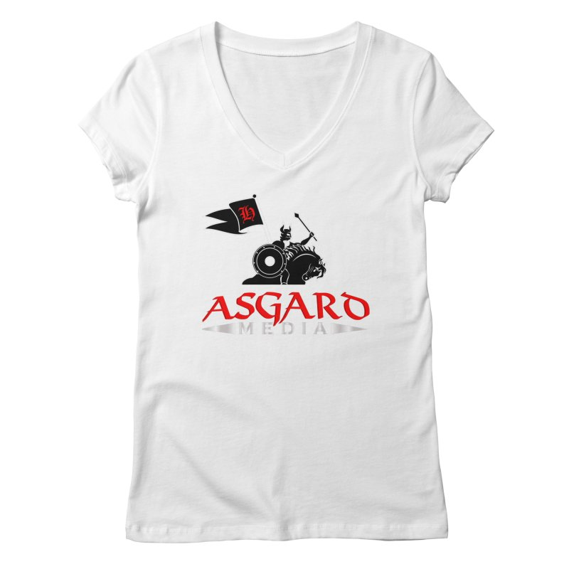 Asgard Media Women's Regular V-Neck by Asgard Radio's Artist Shop