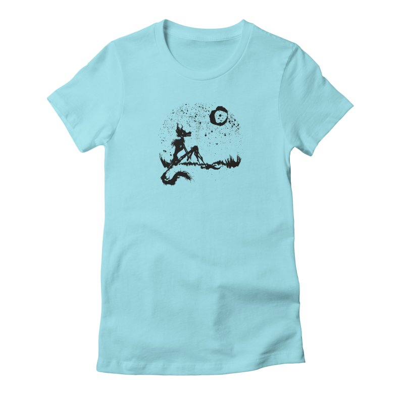 I Wish I Was The Moon Women's Fitted T-Shirt by ashewednesday's Artist Shop