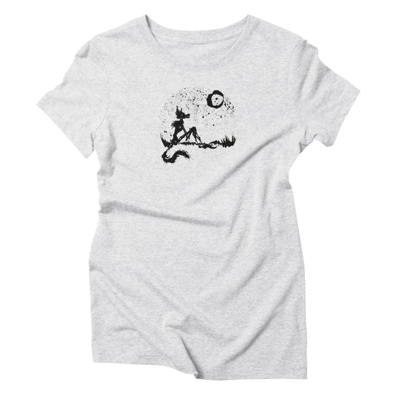 I Wish I Was The Moon Women's Triblend T-Shirt by ashewednesday's Artist Shop
