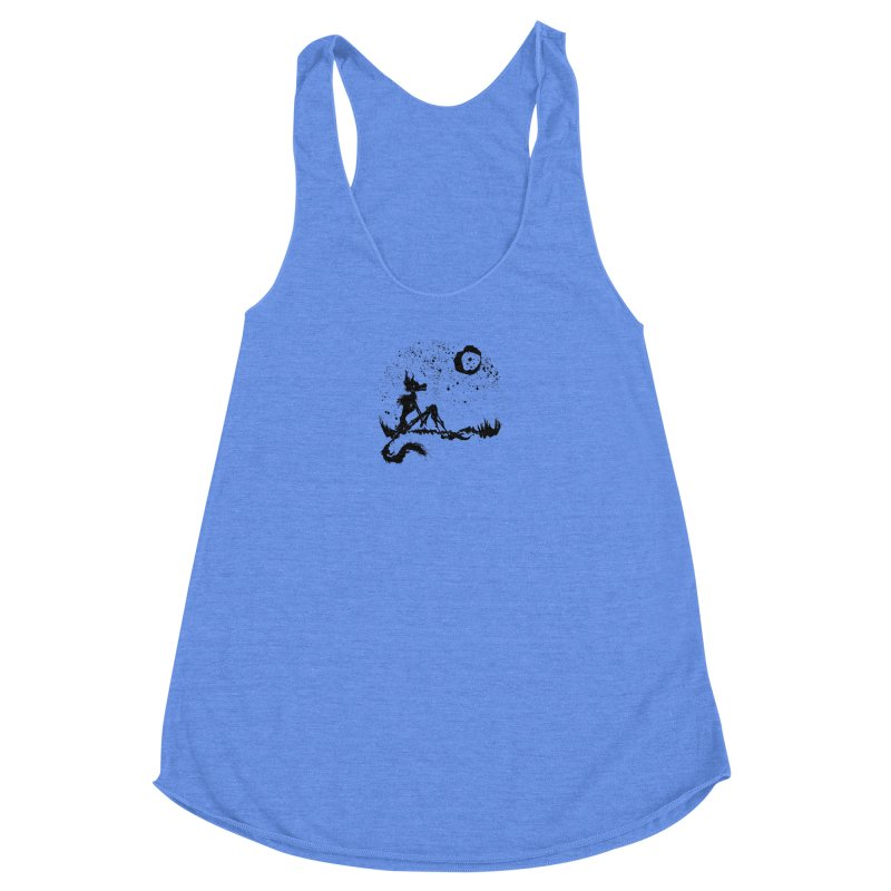 I Wish I Was The Moon Women's Racerback Triblend Tank by ashewednesday's Artist Shop