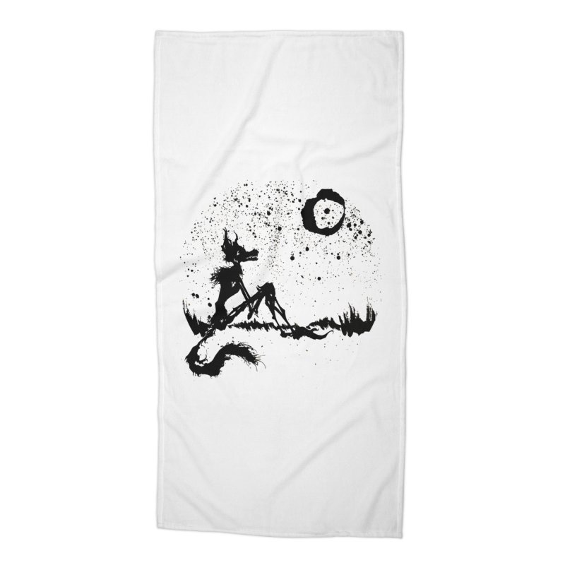 I Wish I Was The Moon Accessories Beach Towel by ashewednesday's Artist Shop