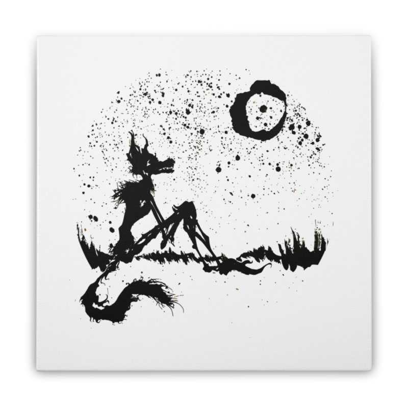 I Wish I Was The Moon Home Stretched Canvas by ashewednesday's Artist Shop